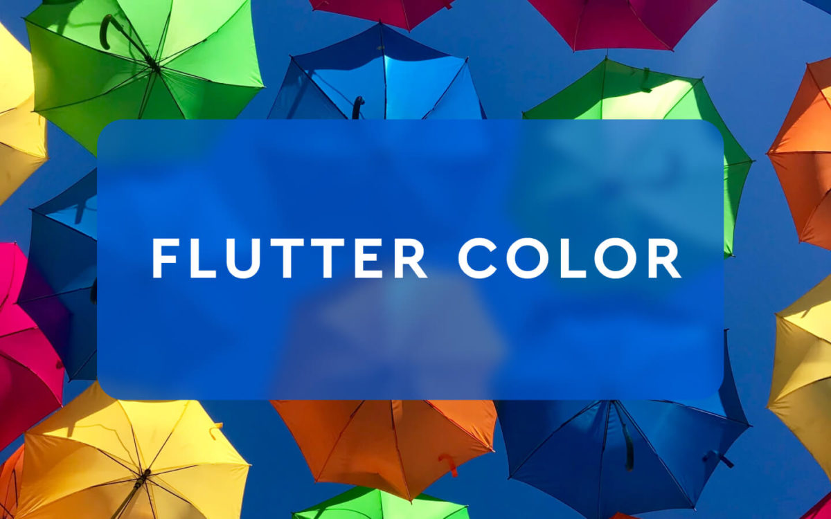 Класс по работе с цветом flutter color